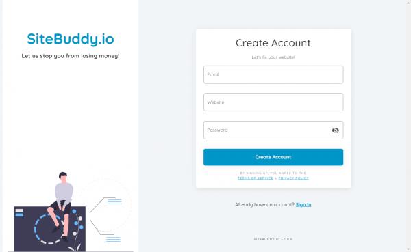 sitebuddy sign up